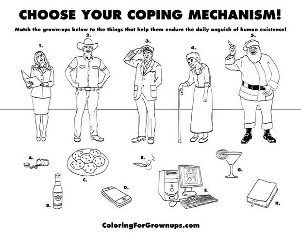 Coloring Books for Grownups - Choose your coping mechanism!