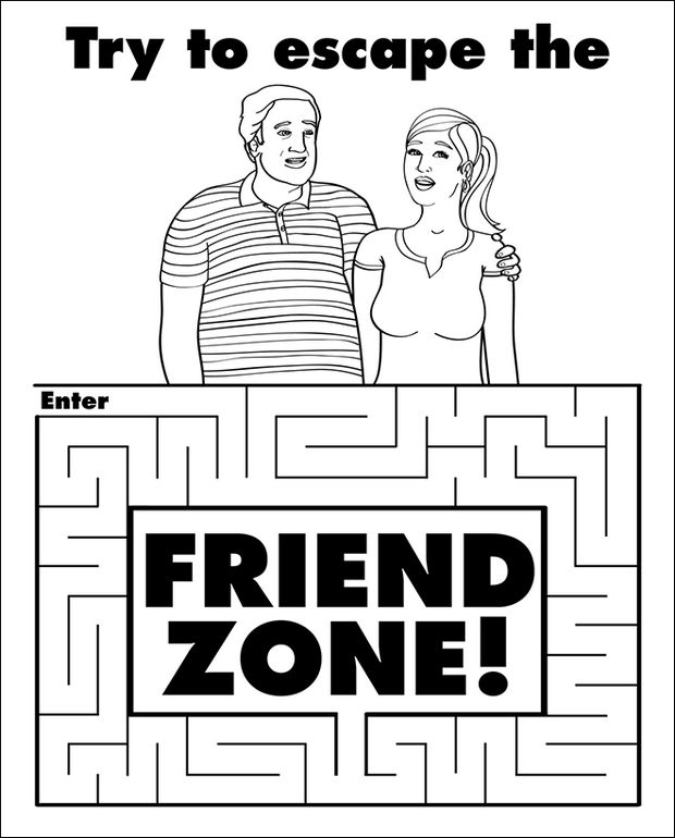Coloring Books for Grownups - Try to escape the friend zone!