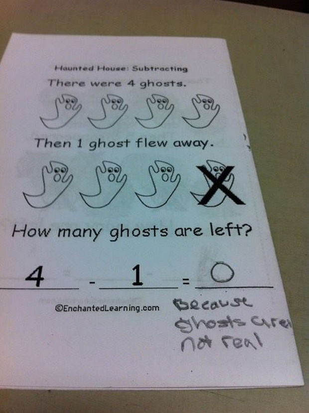 24 Smartasses Who Made Us Laugh - Haunted house subtraction.