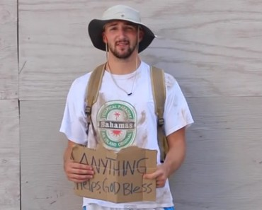 This man pretended to be homeless but you won't believe what he does