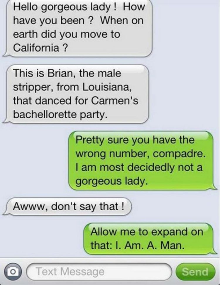 16 Funny Wrong Number Texts - How you doin'?