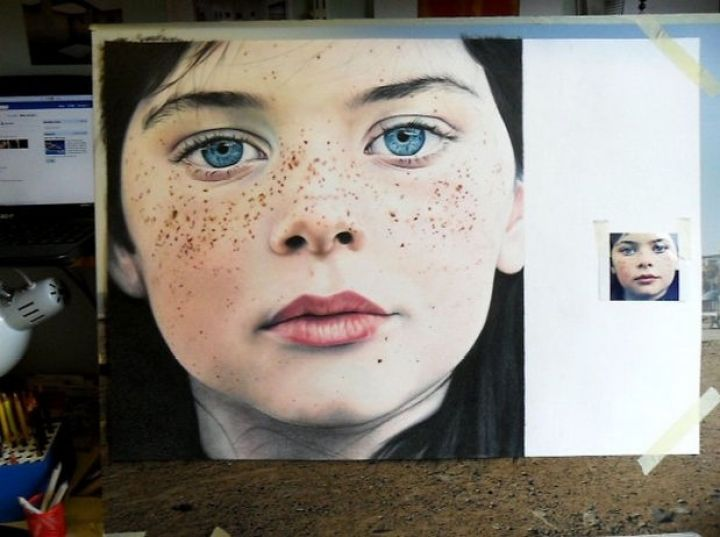 25 Amazingly Realistic Art Paintings - Amy Robins - Colored pencil on cartridge paper