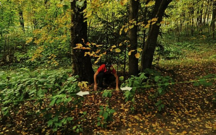 25 Weird Things Found on Google Maps - This guy likes to hide in the woods.