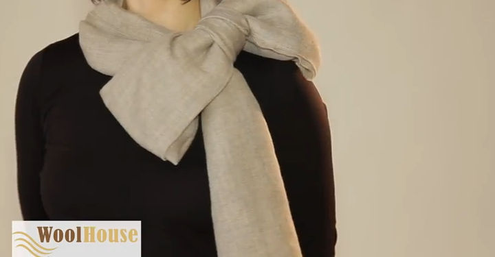 Style #7 - 19 awesome ways to tie a scarf or shawl.