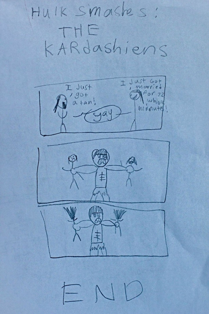 19 Clever Kids - The Hulk is sick of the Kardashians.