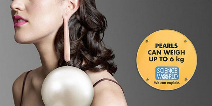 20 Billboards with Science Facts - Pearls can weigh up to 6 kilograms.