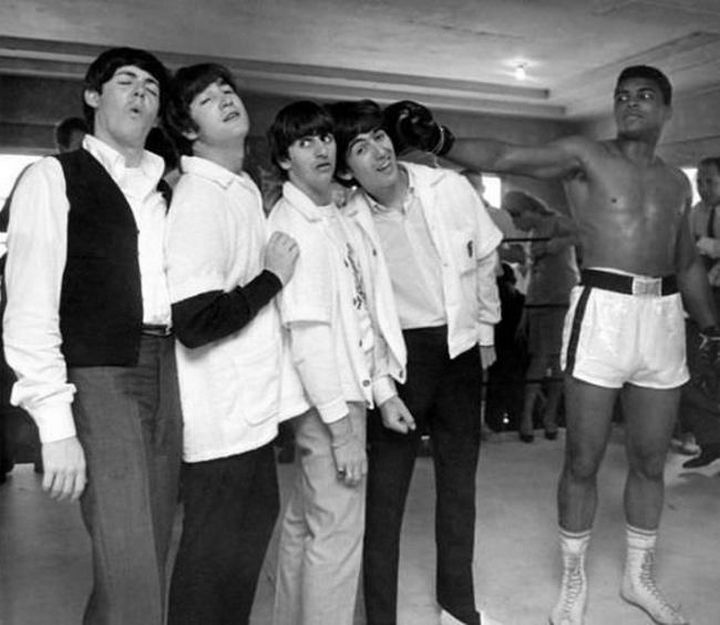 The Beatles and Ali in 1964.