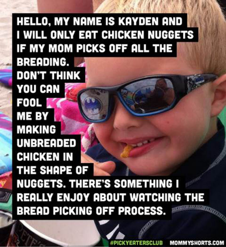 Picky Eaters Club - Hello, my name is Kayden...
