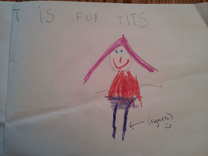 """18 Funny Spelling Mistakes - """"T is for TIGHTS?"""""""