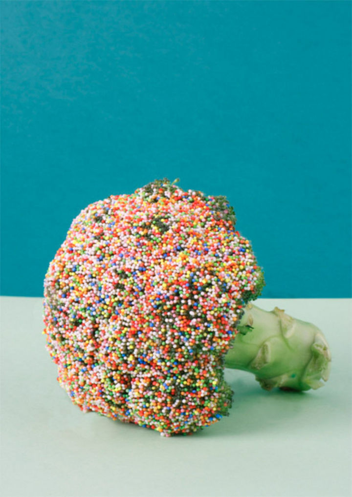 24 Life Hacks for Kids - If they don't eat their vegetables, put sprinkles on them.
