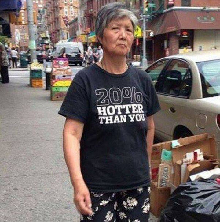 11 Seniors Wearing Funny Shirts - Only 20%?