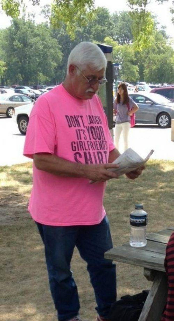 11 Seniors Wearing Funny Shirts - That's where it went!