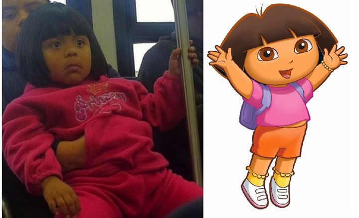 25 People That Look Like Cartoon Characters In Real Life - Dora the Explorer.