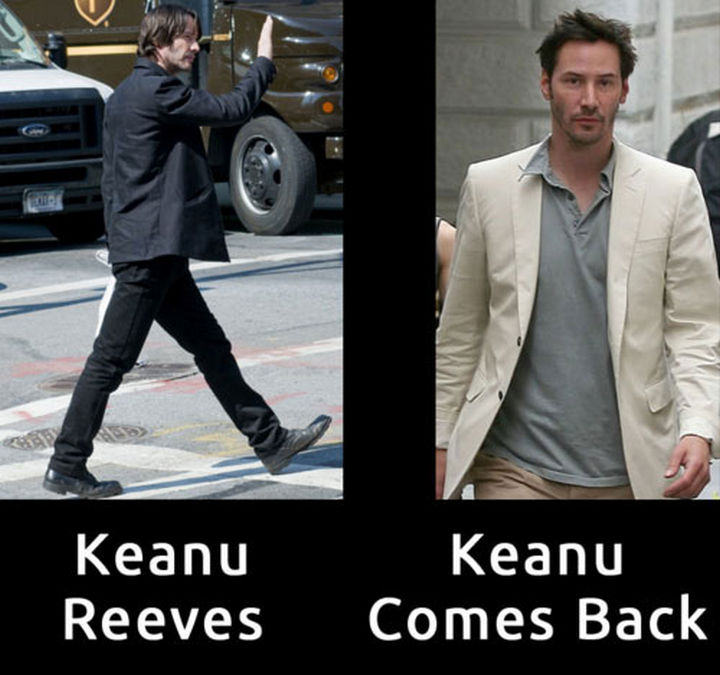 55 Hilariously Funny Celebrity Name Puns - Keanu Reeves.