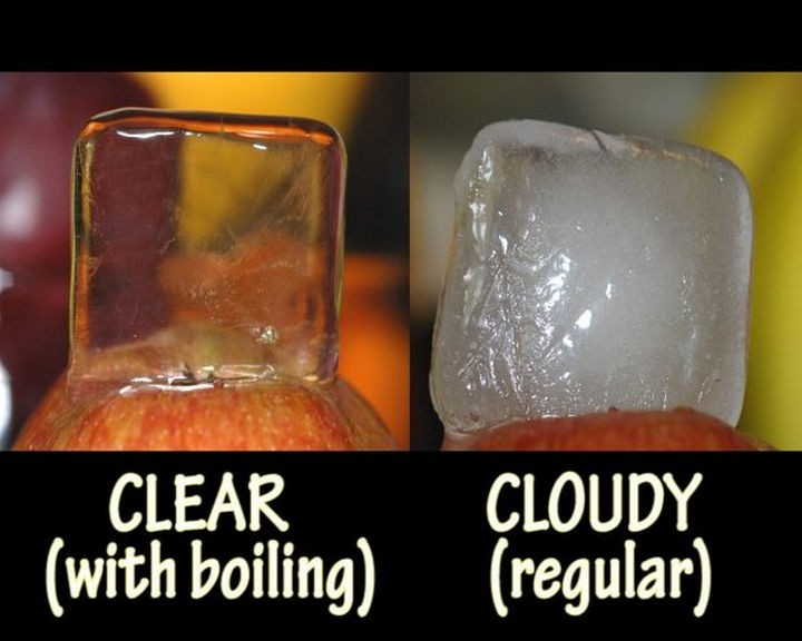 16 Party Hacks - Make crystal clear ice for all your drinks.