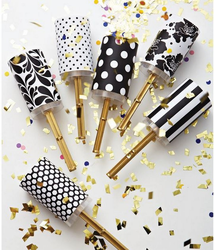 16 Party Hacks - Make DIY confetti poppers.