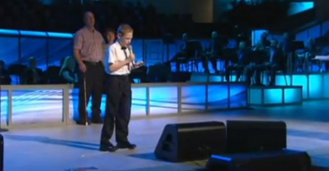Christopher Duffley - Blind 13-Year-Old Boy with Autism Follows His Dream of Singing.