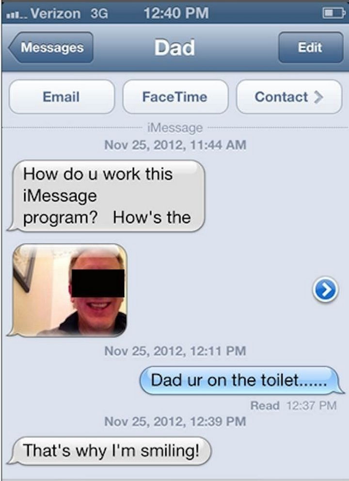 22 Hilarious Texts between Parents and Their Kids - Happy dad.
