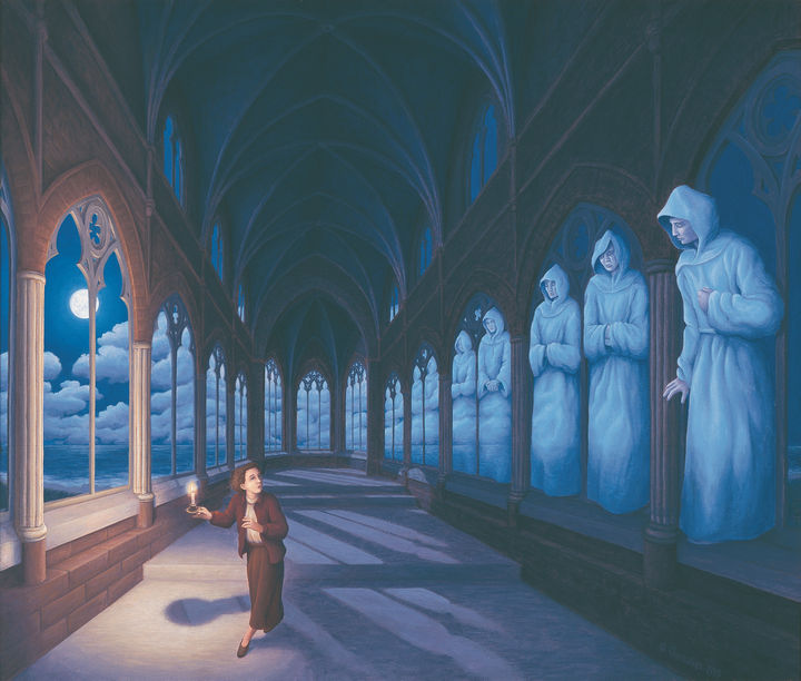 Rob Gonsalves Paintings - Medieval Moonlight.