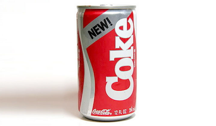 27 Failed Products - New Coke.