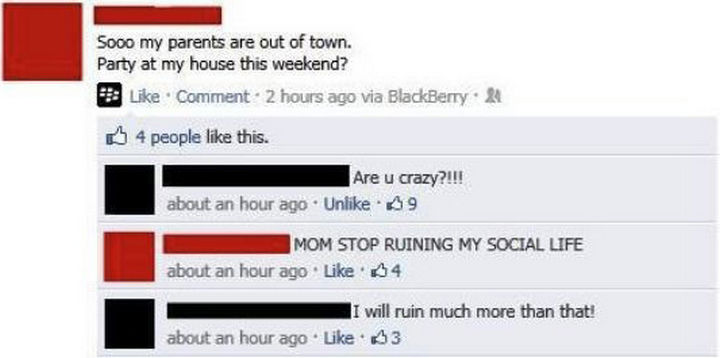 30 Teens Who Got Owned on Social Media by Their Parents 06