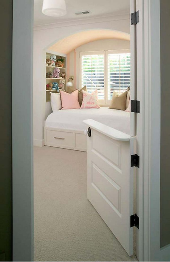 Create an alternative to baby gates by installing dutch doors so you can watch kids or pets - 37 Home Improvement Ideas