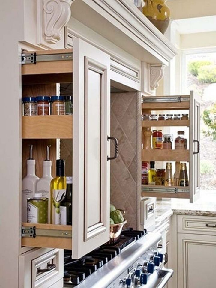 Build slide-out drawers for pantry items in the kitchen - 37 Home Improvement Ideas