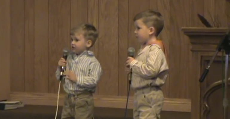 Cute Little Brothers Singing the Classic Easter Song He Arose.