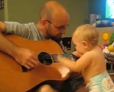 Daddy Starts Playing a Bon Jovi Song and Baby Begins Dancing.