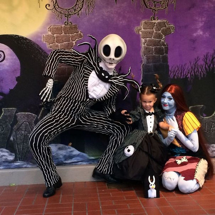 Jack Skellington costume from The Nightmare Before Christmas.