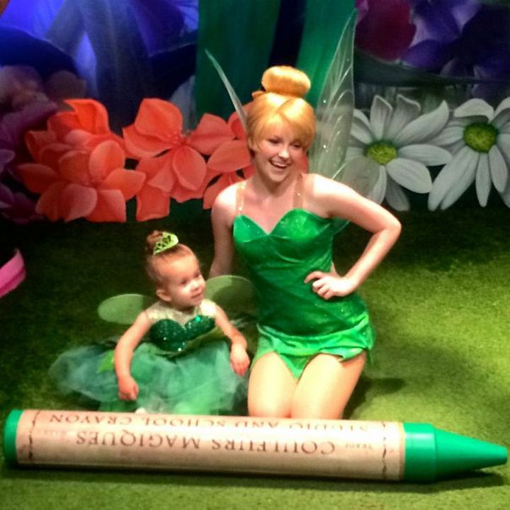 Tinkerbell costume from Peter Pan.