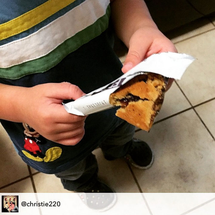 MyKidCantEatThis cereal bar because he broke it.