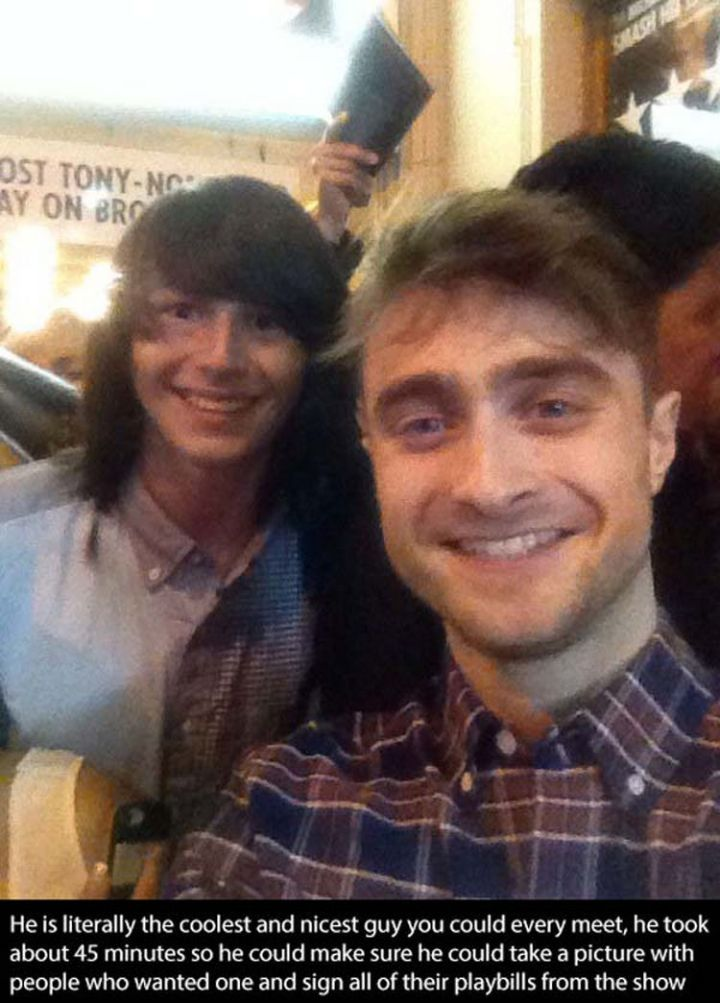 17 Celebrities Doing Random Acts of Kindness - Daniel Radcliffe.