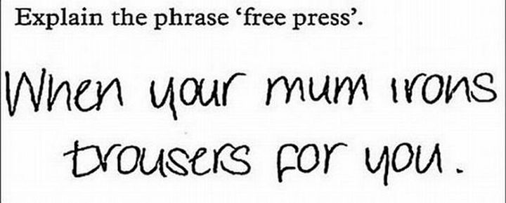 25 Funny Test Answers From Funny Kids - Clever, but no.