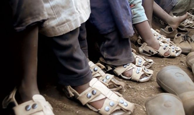 According to their website, over 300 million children do not have shoes at all and much more do have shoes that don't fit properly.