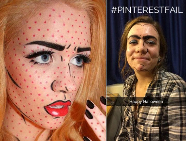 18 Pinterest Beauty Fails - It's Halloween, nobody will notice. Not.