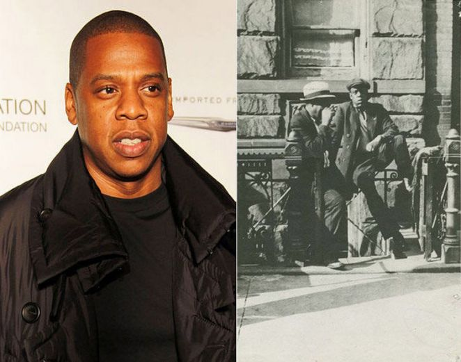 20 Celebrity Historical Doppelgangers - Jay Z and an unknown man from Harlem.