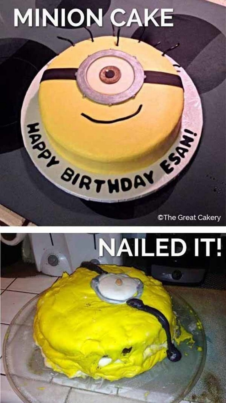 26 Pinterest Fails - This would make a great birthday cake...if somebody else made it.