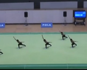 Six Asian Dancers Stun Audience with Synchronized Routine.