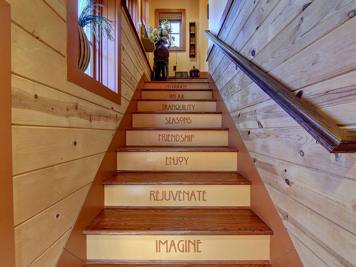 There is attention to detail everywhere and these stairs truly define what staying at the Hobbit House is all about.