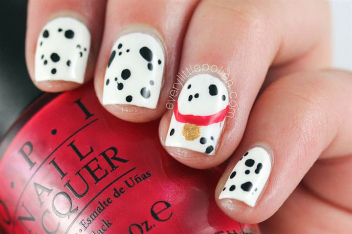 18 Disney Nails - 101 Dalmatians.