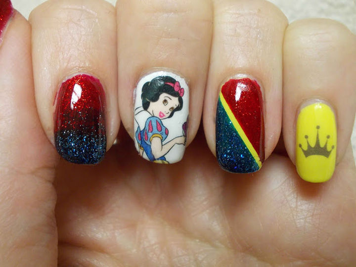 18 Disney Nails - Snow White.