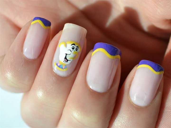 18 Disney Nails - Chip Potts from Beauty and the Beast.