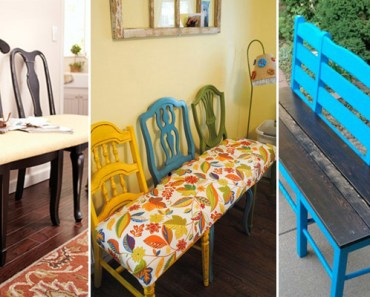 8 DIY Projects for Turning Old Chairs Into Gorgeous Benches.