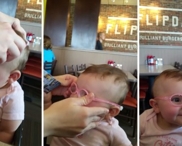 Baby Piper Gets a New Pair Glasses and Her Reaction Is Cute.