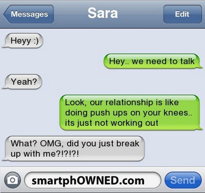"22 Breakup Text Messages - Rarely is there good news after the words, ""We need to talk...""."