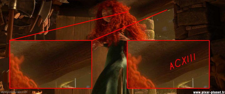 Disney and Pixar 'A113 Easter Egg - Engraved in Roman numerals above this doorway in Brave.