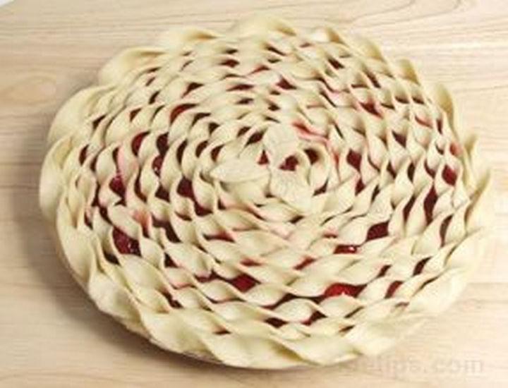 spiral top pie crust design.