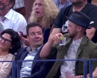 "Jimmy Fallon and Justin Timberlake Dance to ""Single Ladies"" at US Open."