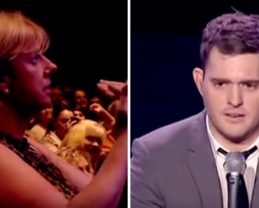Michael Bublé Duets with 15-Year-Old Fan in Audience.